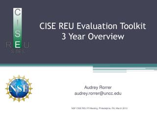 CISE REU Evaluation Toolkit 3 Year Overview