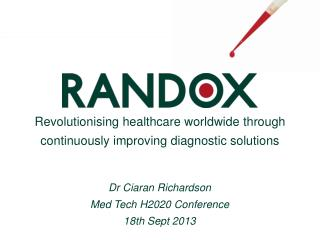 Revolutionising healthcare worldwide through  continuously improving diagnostic solutions