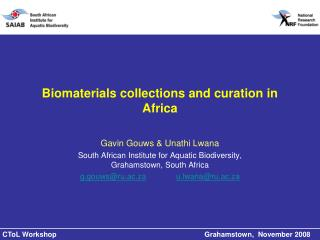 Biomaterials collections and curation in Africa