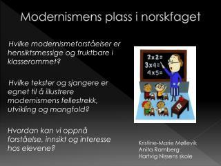 Modernismens plass i norskfaget