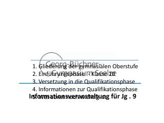 Informationsveranstaltung für Jg . 9