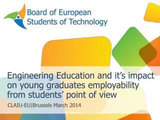 CLAIU-EU|Brussels March  2014