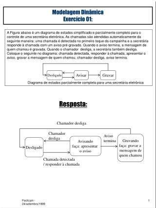 Modelagem Dinâmica Exercício 01:
