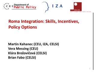 Roma Integration: Skills, Incentives, Policy Options