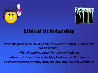 Ethical Scholarship