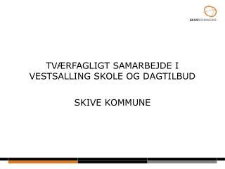 TVÆRFAGLIGT SAMARBEJDE I VESTSALLING SKOLE OG DAGTILBUD