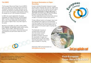 First European  Paper Recycling Award