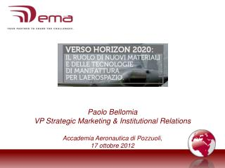 Paolo Bellomia VP Strategic Marketing & Institutional Relations