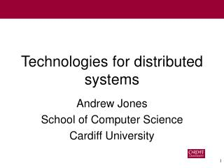 Technologies for distributed systems