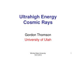 Ultrahigh Energy  Cosmic Rays