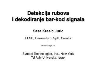 Detekcija rubova   i dekodiranje bar-kod signala