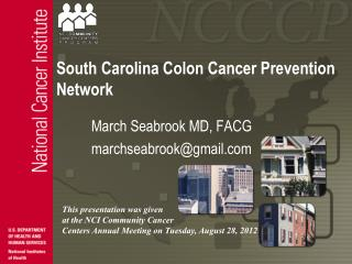 South Carolina Colon Cancer Prevention Network