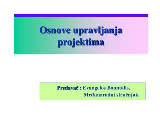 Osnove upravljanja projektima