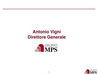 Antonio Vigni Direttore Generale