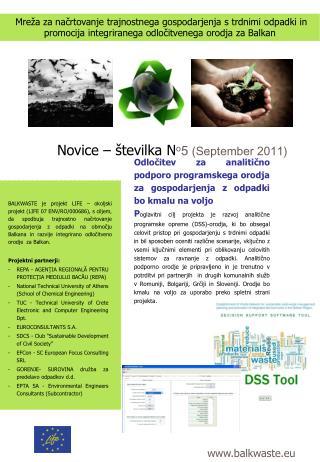 Novice – številka N ο 5 ( September  20 11 )