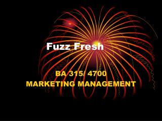 Fuzz Fresh