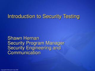Introduction to Security Testing