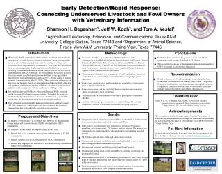 Early Detection/Rapid Response:
