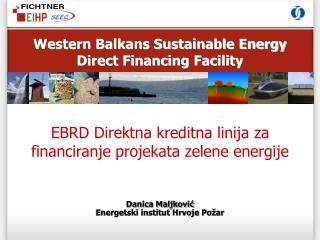 EBRD Direktna kreditna linija za financiranje projekata zelene energije