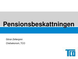 Pensionsbeskattningen