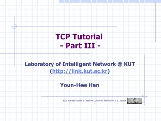 TCP Tutorial  - Part III -