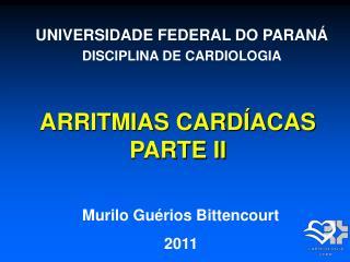ARRITMIAS CARDÍACAS PARTE II