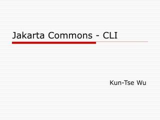 Jakarta Commons - CLI