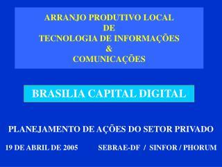 ARRANJO PRODUTIVO LOCAL DE TECNOLOGIA DE INFORMAÇÕES &  COMUNICAÇÕES