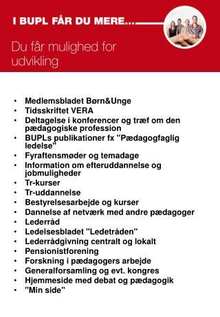 Medlemsbladet B�rn&Unge Tidsskriftet VERA