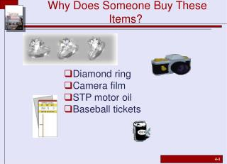 Why Does Someone Buy These Items?