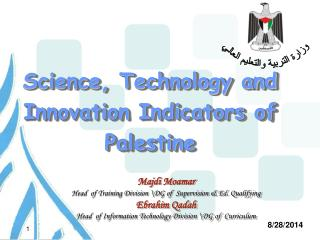 Science, Technology and Innovation Indicators of Palestine