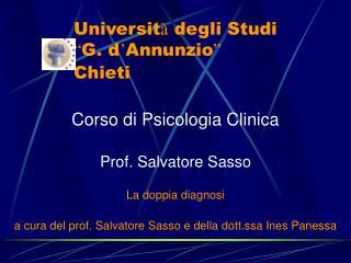 "Universit à  degli Studi  "" G. d ' Annunzio "" Chieti"