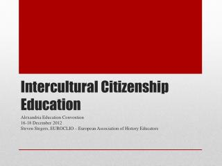 Intercultural Citizenship Education