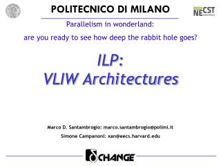 ILP:  VLIW Architectures