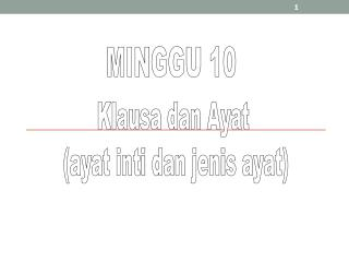 MINGGU 10