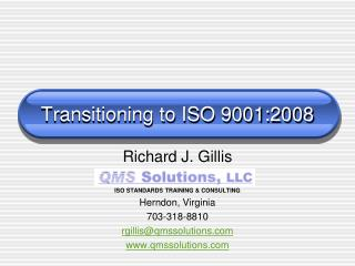 Transitioning to ISO 9001:2008