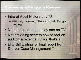 Surviving a Program Review
