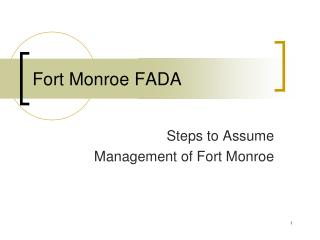 Fort Monroe FADA