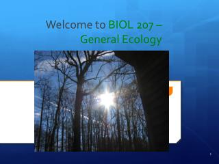 Welcome to  BIOL 207 – General Ecology