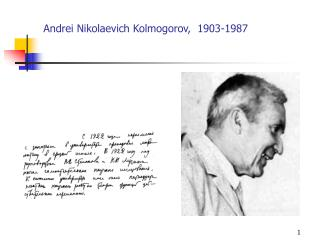 Andrei Nikolaevich Kolmogorov,  1903-1987