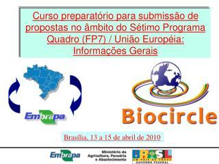 Brasília, 13 a 15 de abril de 2010