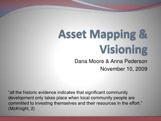 Asset Mapping & Visioning