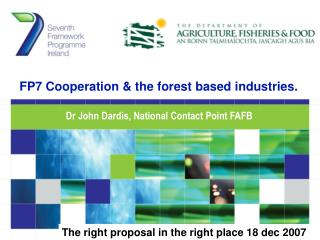 FP7 Cooperation & the forest based industries.
