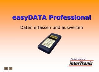 easyDATA Professional Daten erfassen und auswerten