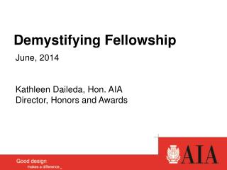Demystifying Fellowship