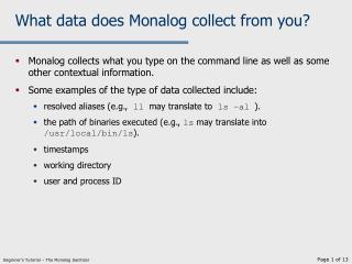 What data does Monalog collect from you?