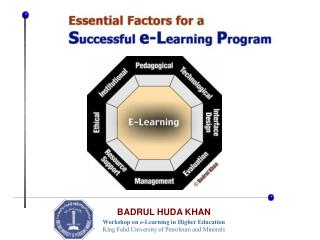 Workshop on e-Learning in Higher Education King Fahd University of Petroleum and Minerals