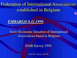 Federation of International Associations established in Belgium