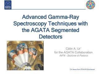 Advanced Gamma–Ray Spectroscopy Techniques with the AGATA Segmented Detectors