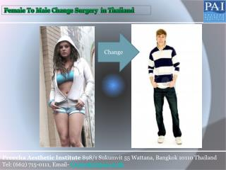 Ftm Surgery in Thailand